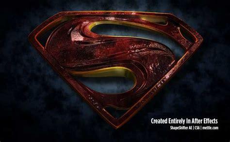 tutorial logo superman 3d morphing superman logo tutorial by maltaannon mettle