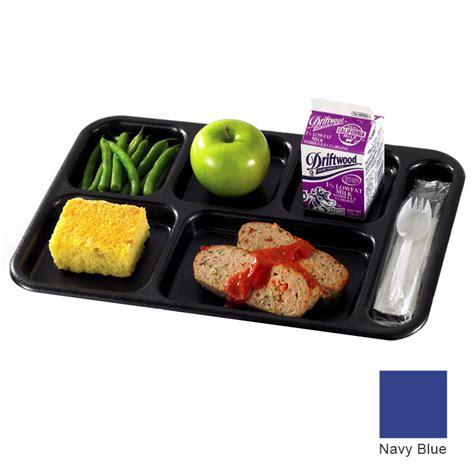 S Corn School Platter 3 cambro 10146cw186 rectangular camwear school tray 6 compartment 10x14 1 2 quot navy blue