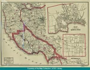 map of watsonville california ucsc library s digital collections