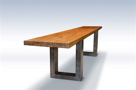 wood bench metal legs modern teak wood bench with metal legs abodeacious