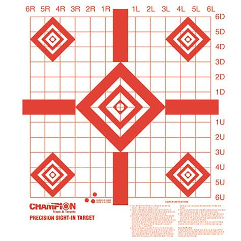 printable targets rifle sighting chion 25 yard rifle sight in target turner s outdoorsman