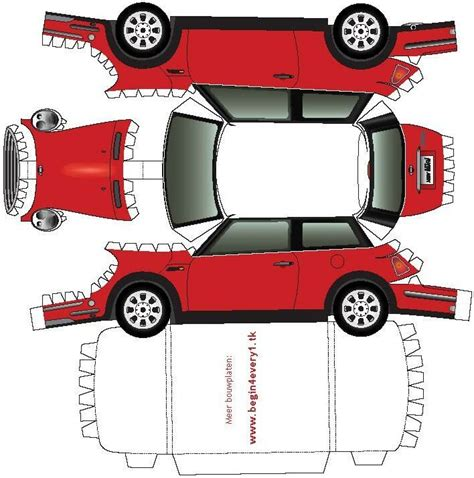 Mini Cooper Papercraft - 10 best images about bouwplaten on toys