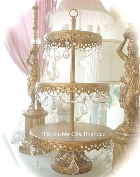 shabby chic cake stand shabby prisms garlands chic gold 3 tier cupcake