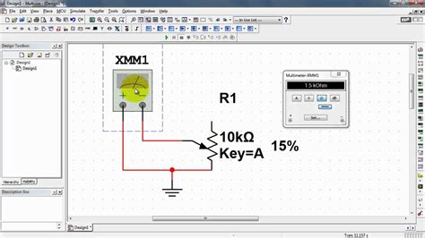 multisim variable resistor ni multisim linear potentiometer