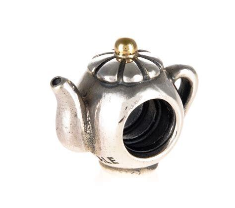 pandora silver 14ct gold teapot charm 790250
