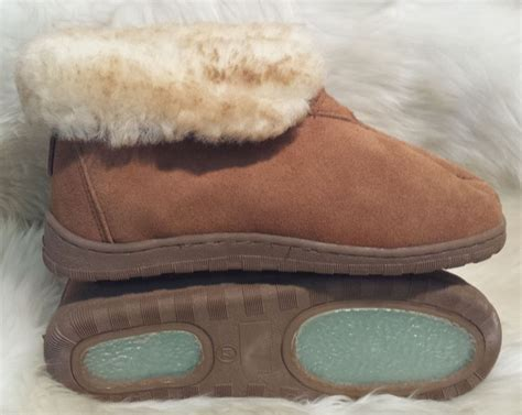 mens size 11 slippers new s sheepskin bootie slipper size 7 8 9 10 11 12 13