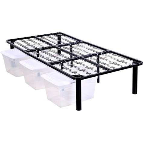 steel bed frame steel platform bed frame walmart