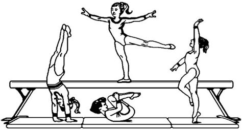 gymnastics coloring pages free printable get this printable gymnastics coloring pages yzost