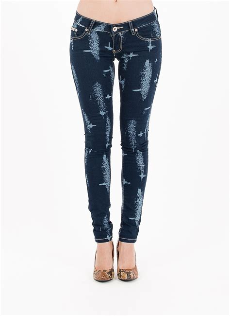 printed denim printed denim denim tight