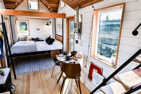 tiny homes interior pictures 2018 tiny house s versatile lounge comes with an elevator bed treehugger