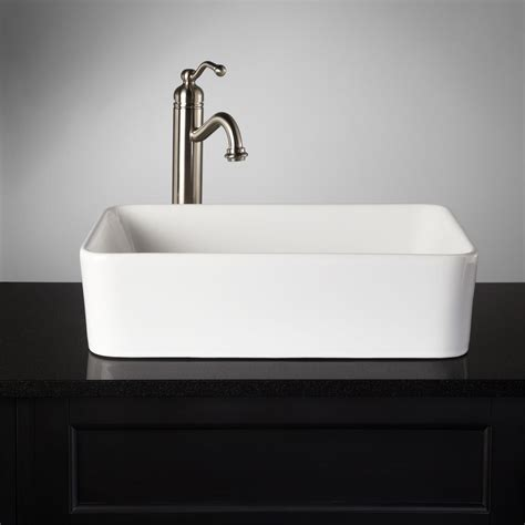 bathrooms with vessel sinks blanton rectangular porcelain vessel sink vessel sinks