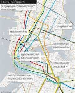 2nd Avenue Subway Map by The Futurenycsubway 2nd Ave Subway Future Vanshnookenraggen