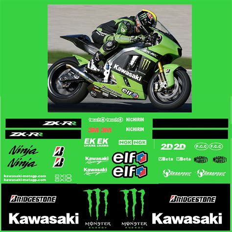 Monster Sticker Kit Für Kawasaki kawasaki kawasaki zx rr monster energy race decal kit r
