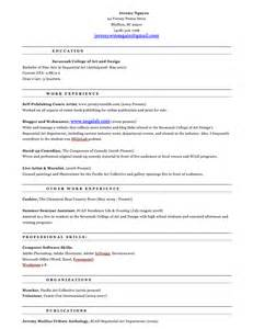 187 archive 187 the evolution of a resume