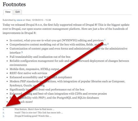 What Does A Footnote Look Like In An Essay by How To Create Footnotes In Drupal Drupal Sun
