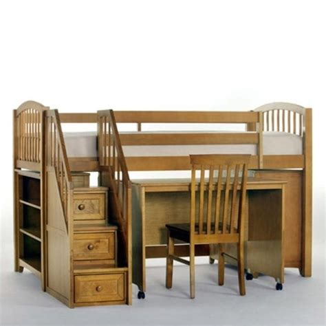 junior loft bed with stairs ne kids school house junior loft bed with stairs in pecan