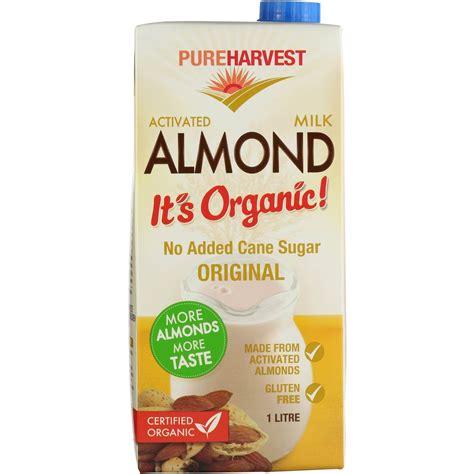 Almond Milk 1l pureharvest organic almond milk 1l woolworths