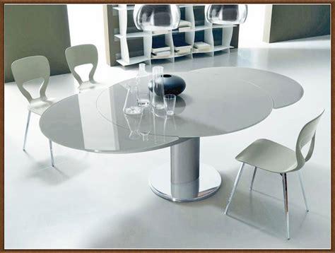 mesas de cocina redondas de cristal mesas de comedor redondas extensibles de cristal ideas