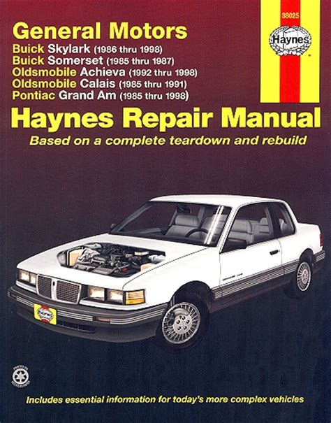 online service manuals 1987 pontiac grand am seat position control skylark achieva calais grand am repair manual 1985 1998