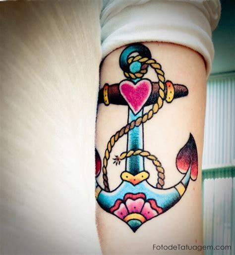 tattoo old school feminina tatuagem de ancora foto de tatuagem