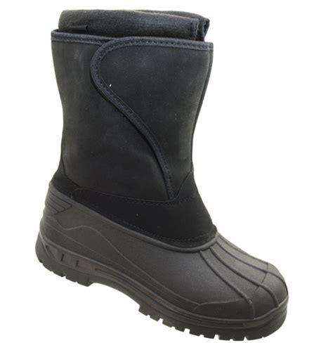 mens velcro winter boots mens black mucker velcro snow boots winter wellington boot