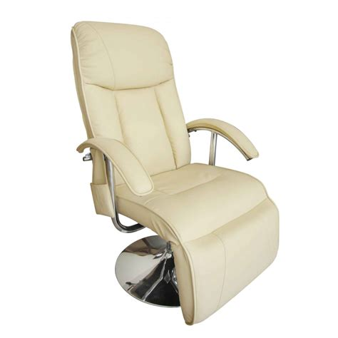 Electric Recliner Chairs Electric Tv Recliner Chair Creme White Www Vidaxl Au