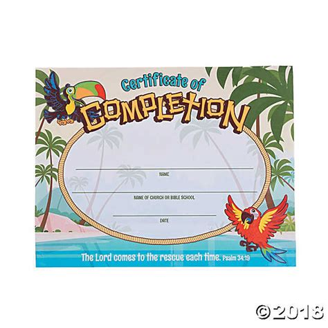 sle of vbs certificate island vbs certificates of completion