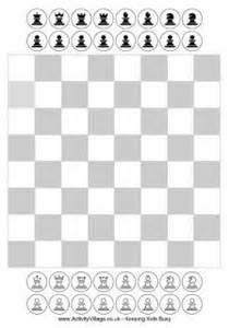 4 best images of board and chess pieces printable small