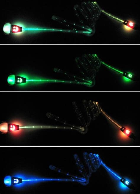 Flash Color Led Light Usb Sync Charger Cable How To Synchronize Lights