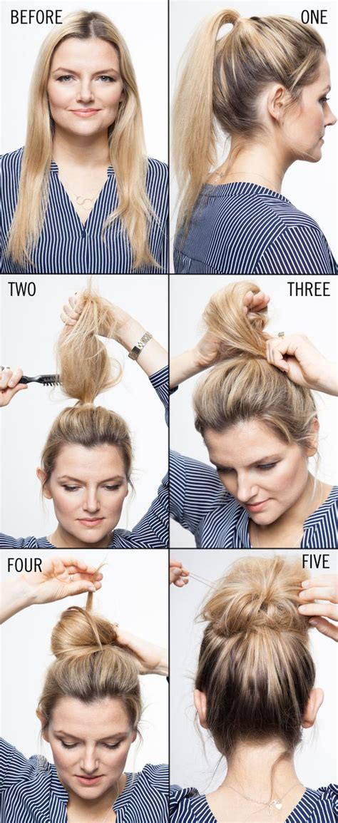 how to do a bun with a decorative comb 21 easy messy bun tutorials for the perfect disheveled