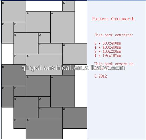 tile pattern with different sizes modular tile patterns 4 sizes tile design ideas