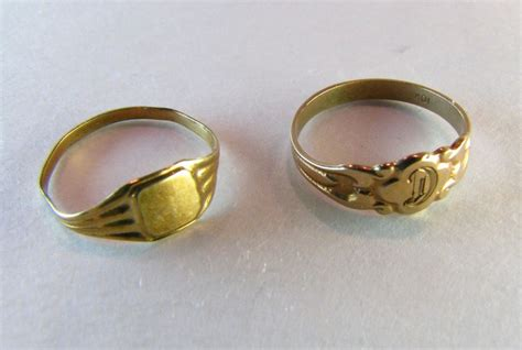 baby ring set 10k solid gold to deco from