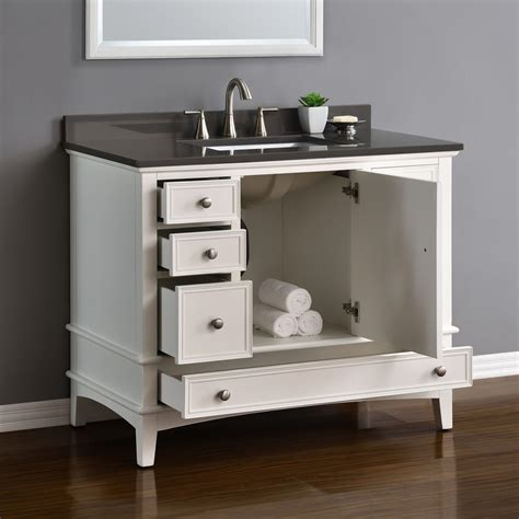 cambridge 42quot white single sink vanity mission hills