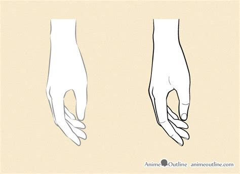 anime hand how to draw anime hands step by step anime outline