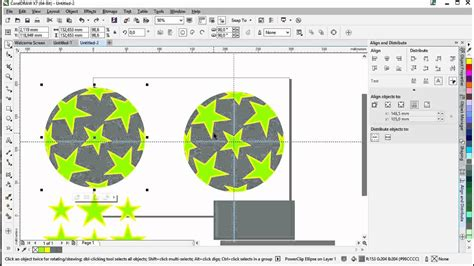 coreldraw x7 tutorials for beginners trace objects coreldraw x7 drawing a sphere circle with stars 3d feeling