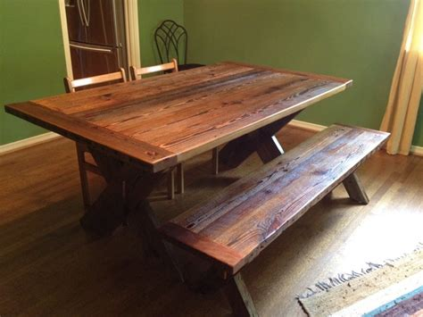 reclaimed dining room table reclaimed barnwood dining table cross leg traditional