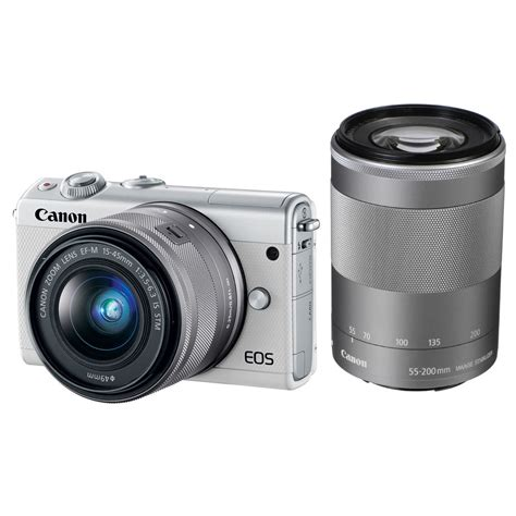 Canon Eos M100 Mirrorless Kit 15 45mm Is Stm canon eos m100 mirrorless digital with 15 45mm 2210c021