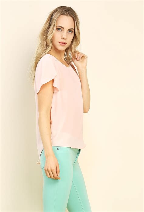 Blouse Flare flare sleeve blouse shop dressy tops at papaya clothing
