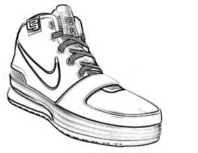 coloring pages of shoes tennis shoe coloring page clipart best