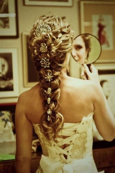 Wedding Hairstyles For Princess Dresses by Beautiful Dress Hair Princess Wedding Image 417799