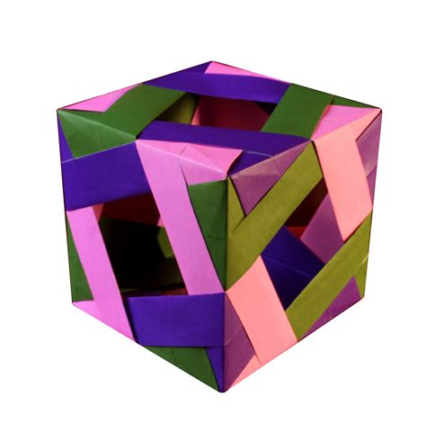 Paper Cube Origami - cube with square windows r gurkewitz b arnstein