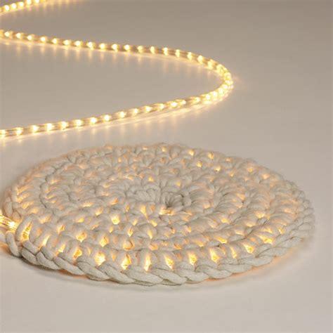 Rope Light Crochet Rug by Grosgrain Glowing Rope Rug Diy