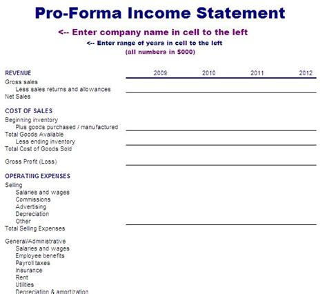 income statements template income statement template blue layouts