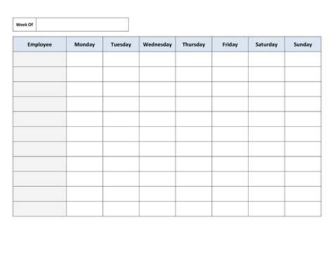 printable employee schedule maker free printable work schedules weekly employee work