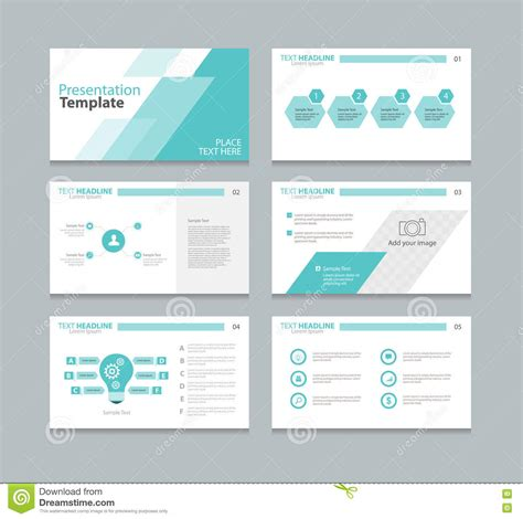 page design template page layout design template for presentation stock vector