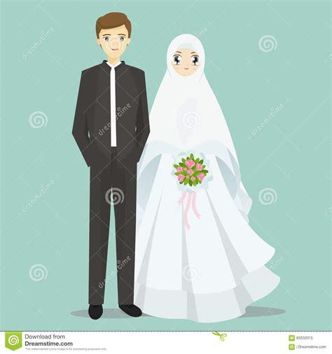Animasi Wedding Free by Muslim Wedding Vector Illustration Cartoondealer