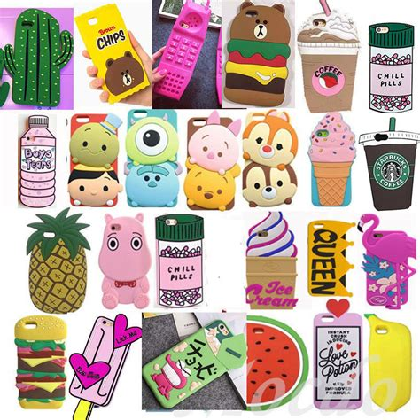 Iphone5 3d Kisd 3d soft silicone phone back cover for iphone 5 5s 6 6s 7 plus ebay