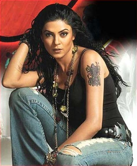sushmita sen zindagi rocks pix when celebs put on fake tattoos rediff movies