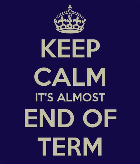 End Of 1 jazztruth it s the end of the term as we it