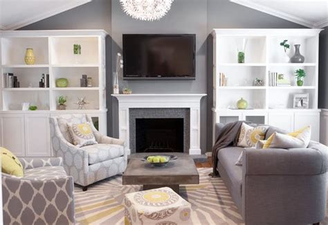 white grey green living room grey living room with pops of soft color in yellow and green